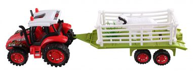 LG-Imports tractor met bok rood 36 cm