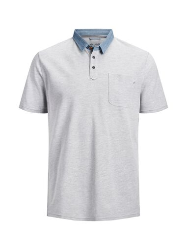 Jack & Jones Plus size polo Contrast kraag