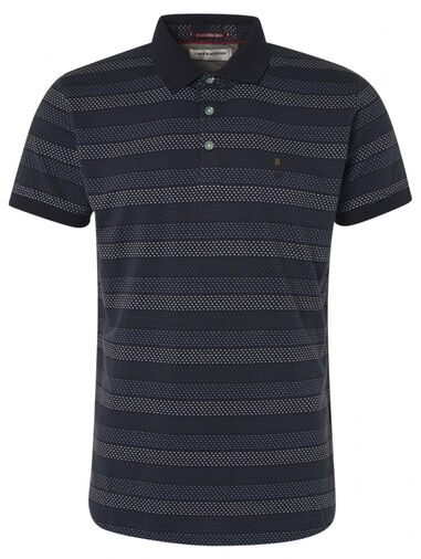 No Excess 95380351 striped polo 124 dark steel no-excess
