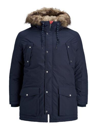 Jack & Jones Plus size parka Faux fur rand