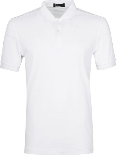 Fred Perry Heren Polo SS Twin Tipped Polo White/White Wit