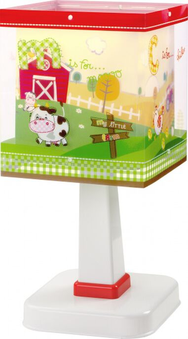 tafellamp My Little Farm 27 cm groen