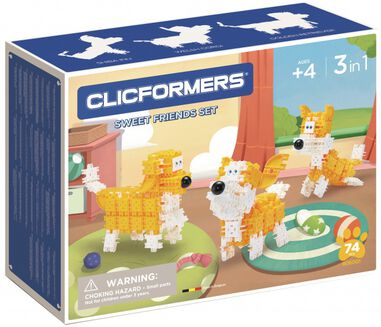 Clicformers hondenset Sweet Friends 74-delig (806001)