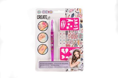 Create It! Tattoo Geurpennen met Diamant & Sjabloon Roze