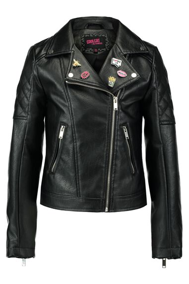 Leather look jas Kbikey -