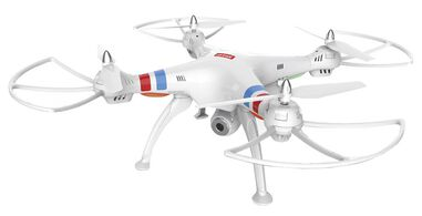 Quadcopter Q8C met HD camera wit/rood
