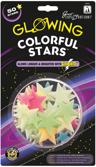 Glow in the Dark sterren: Colorful Stars