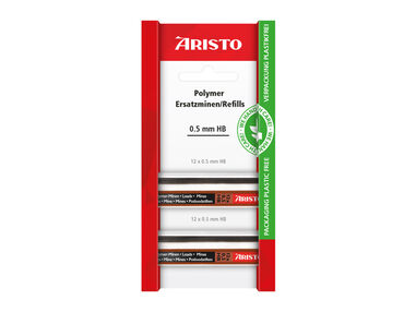 potloodstiftjes Aristo HI-Polymer HB 0,5 mm blister 2 kokers a 12 stuks