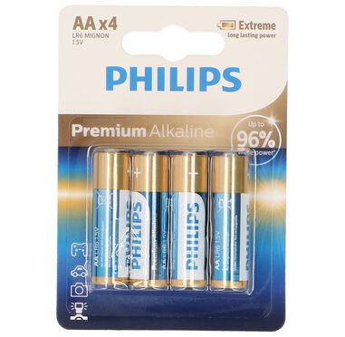 Philips Battery(4) LR6/AA
