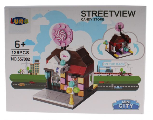 Luna Mini City Streetview Candy Store bouwset 126-delig (657002)