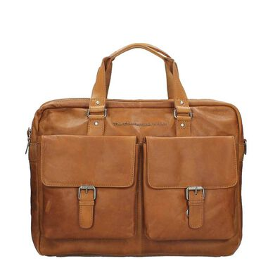 Chesterfield Dylan Laptopbag Large cognac