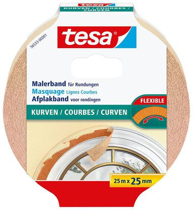 Tesa Afplaktape Curves 25mm breed
