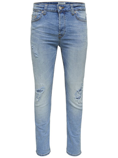 ONLY & SONS Slim fit jeans Loom lt bl breaks
