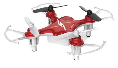 Cartronic quadcopter Q12S 7.7 x 7.7 cm rood/wit