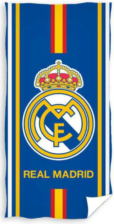 Badlaken real madrid stripe 70x140 cm