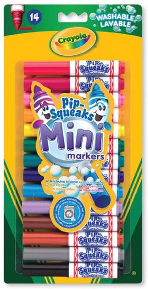 Crayola Washable Mini-markers Pip-Squeaks junior 14-delig