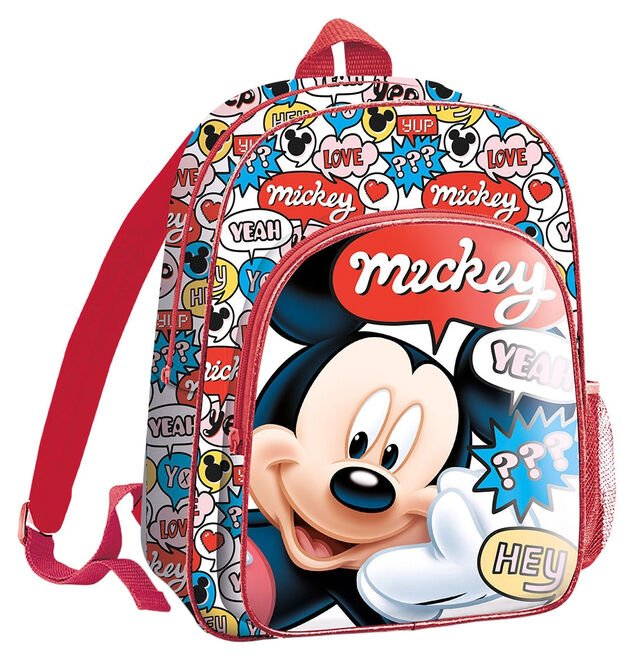 Disney rugzak Mickey Mouse junior 5 liter polyester/PVC rood