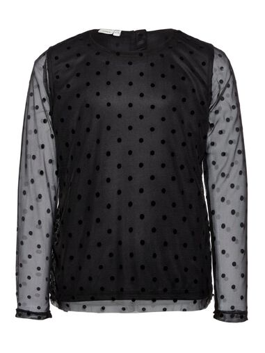Name it Blouse gestippelde mesh