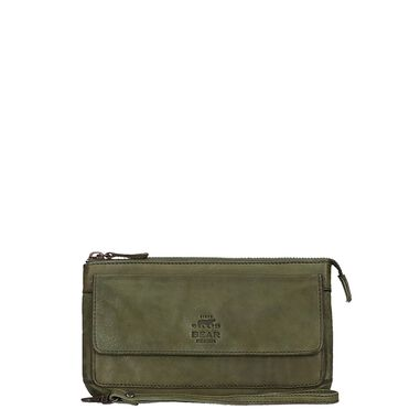 Bear Design Cow Lavato Clutch green