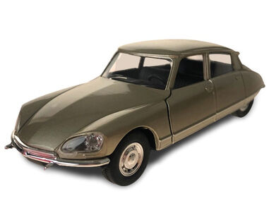 Toys Amsterdam auto Citroën DS 1973 pull-back 1:34-39 staal goud