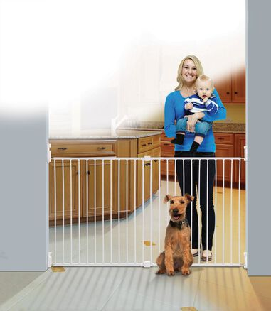 Dreambaby Broadway GRO-GATE® Xtra-Wide | Traphekje wit