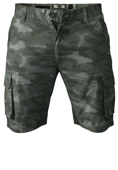 D555 camouflage cargo shorts