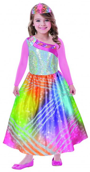verkleedjurk Rainbow Magic met tiara