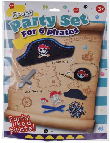 Free and Easy knutselset Craft Piraat jongens zwart/grijs