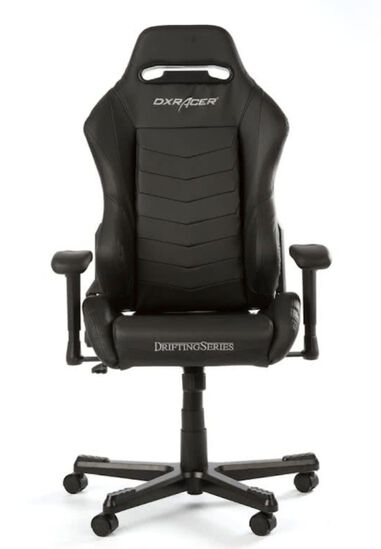 DXRacer DRIFTING D166-N Gaming Chair (Zwart)