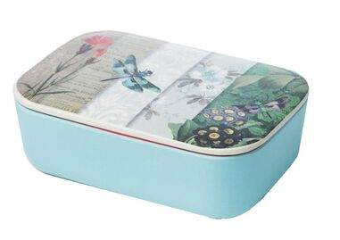 Lunchbox Classic Dragonfly Collage blauw 1,5 liter