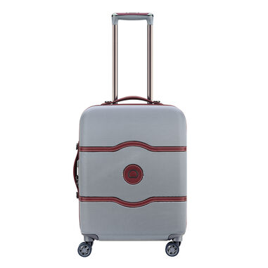 Delsey Chatelet Air 4 Wheel Slim Trolley 55 shiny silver
