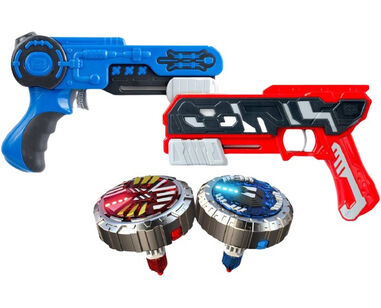 Silverlit battle set Spinner MAD Duo blauw/rood 4-delig
