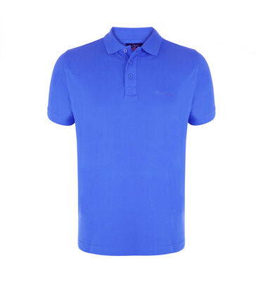 Pierre Cardin - Heren Polo SS Basic Polo Blauw