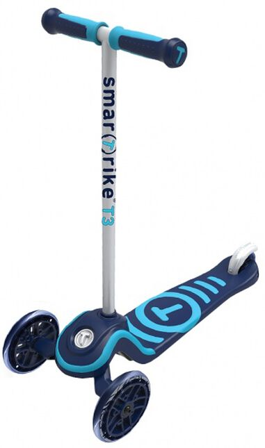 Scooter T3 step Junior Blauw