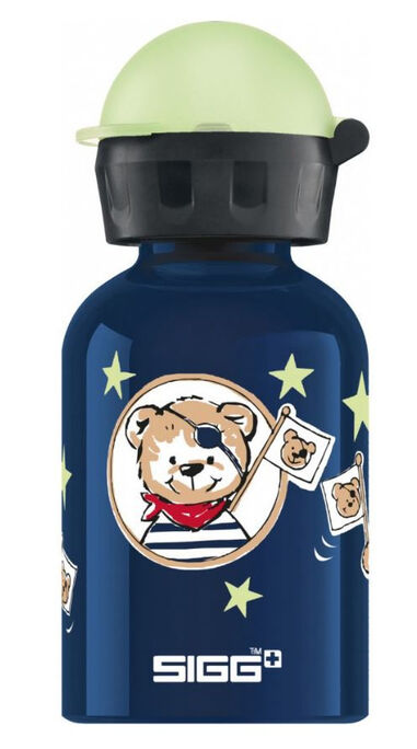 Sigg drinkfles Little Pirates 300 ml 6,6 cm aluminium blauw