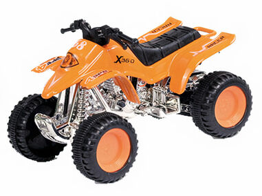 Luna quad Modern City junior 12 cm staal oranje