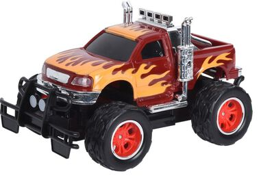Free and Easy monstertruck vlammen 15 cm rood