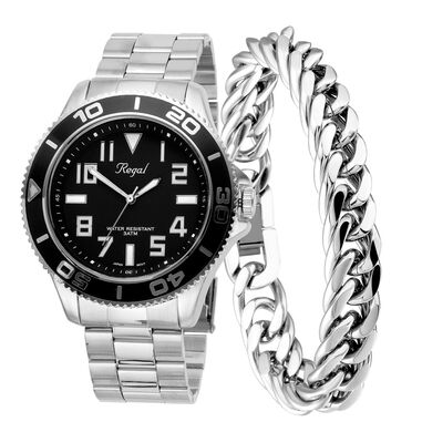 Stalen set armband & Regal horloge R14793-212
