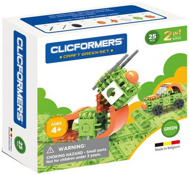 Clicformers Craft Green-set 2-in-1 (807003) 25-delig