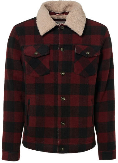 No Excess Jack check wool rood