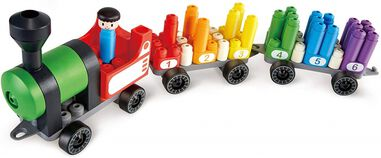 PolyM Rainbow Counting Train bouwblokken 63-delig
