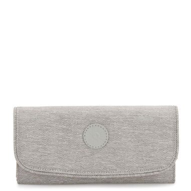 Kipling Money Land Portemonnee Chalk Grey