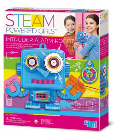 4M Steam Powered Girls indringersalarm robot 15 cm (Engels)