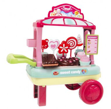 Chaofeng Toys cupcakewagen 30 x 20 x 35 cm 13-delig