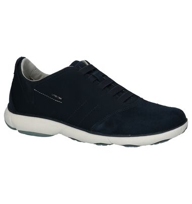 Donkerblauwe Casual Instappers Geox