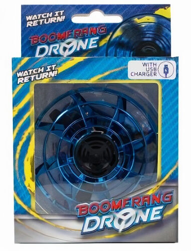 Toys Amsterdam boomerang-drone met USB-oplader blauw 2-delig