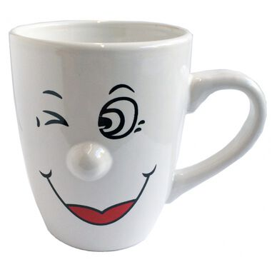 Koffiemokken/bekers Smiley model 6 van 300 ml