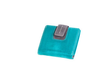 Portefeuille Mika turquoise/grijs dame