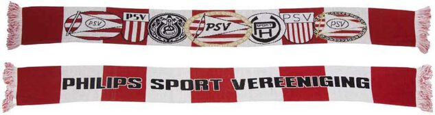Sjaal psv rood/wit logo`s