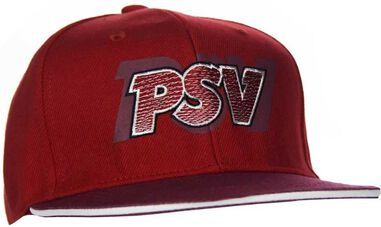 Cap psv junior rood flatpeak letters